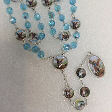 CHAPLET of Archangel Angel Michael rosary made in Poland of Italian parts 16""