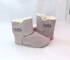 "EMU Australia Baby Sheepskin Booties Toddler Shearling Boots Pink Small (4.5"")"