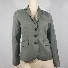 J Crew Grey Blazer Wool Cashmere Fitted Size 2 UK 6-8 Small Business Career Wear