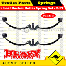 Superior 5 Leaf Rocker Roller Tandem Trailer Spring Set -RATED AT 2200KG