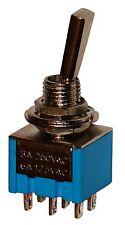 Interruptor conmutador de palanca DP3T ON-OFF-ON 3A/250V, 3 posiciones