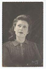 BP078 Carte Photo vintage card RPPC jeune Femme portrait