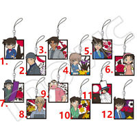Anime Detective Conan Rubber keychain Key Ring Race Straps cosplay