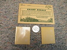 Champ decals HO HN-55 Central New Jersey road names J33