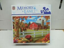 Jigsaw Puzzle Used In Box 1000 Pc. Memory Lane Alan Giana Art Pastures Chance