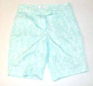 Lady Hagen Women's Calypso Printed Tile Golf Shorts Size 0 Icy Mint NEW