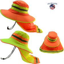 Hi Vis Reflective Sun Safety Working Neck Flap Bonnie Hats Bucket Cap (1)