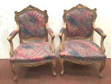Fauteuil de style Louis XV Paire de sièges en hêtre Chaise Canapé