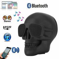Mini Skull Head Wireless Bluetooth Speaker Portable Stereo Speaker HD Sound Bass