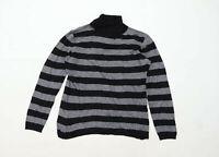 Marco Pecci Womens Size 16 Striped Black Jumper (Regular)