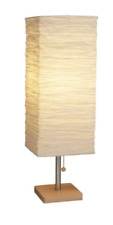 ADESSO 8021-12 Dune Table Lamp 25' 100W Incandescent/26W CFL Natural Rubber Wood