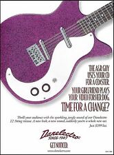 The 1999 Danelectro 12-string reissue electric guitar ad 8 x 11 advertisement
