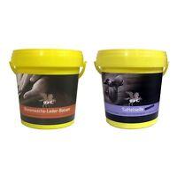 B & E Leder Pflege 2 x 1000 ml - Bienenwachs Lederpflege Balsam + Sattelseife