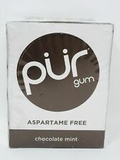 PUR Chewing Gum, Chocolate Mint, Aspartame Free - 9 Count (Pack of 12)