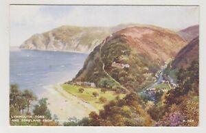 Devon Postale - Lynmouth Actionneur & Foreland De Fairholme Par Brian Gerald (