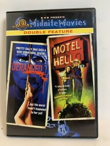 Deranged & Motel Hell rare US DVD MGM Midnite Movies cult horror double feature
