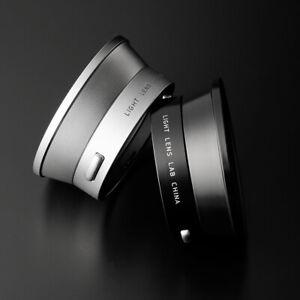 LIGHT LENS LAB Lens Hood IROOA Reprint Version =Black Paint + Silver Set=