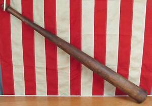 "Vintage Antique Wood Baseball Bat Handmade 34"" Great Shape early 1900s Folk Art"