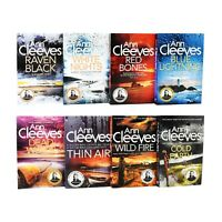 Ann Cleeves Shetland Series 8 Books Young Adult Collection Paperback Set