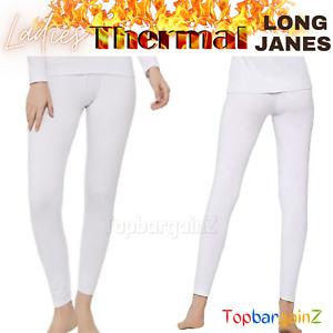 Ladies Thermal Underwear Long Johns Janes Warm Winter Leggings Bottoms Ski Wear