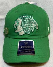 Chicago Blackhawks Fanatics NHL St Patricks Day Adjustable Hat Green Cap 2020