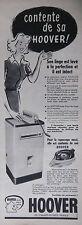 PUBLICITÉ DE PRESSE 1956 HOOVER LAVE LINGE ET FER A REPASSER - ADVERTISING