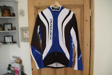 shimano dura-ace long sleeve thermal cycling jersey mens excellent condition