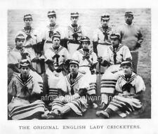 Photo. ca 1889. UK.  Women's Cricket Team