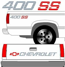 CHEVROLET SS Tailgate Truck Lettering + (2) 400 SS Vehicle Vinyl Decal  SET