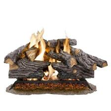 18-Inch Split Oak Logs with Glowing Embers Vented Natural Gas Decorative Log Set
