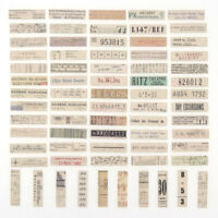 65X Vintage Ticket Label Washi Sticker DIY Scrapbooking Journal Album Card Craft