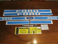 Ford tractor decal set 6610 stickers with caution and shifter labels   1115-1561