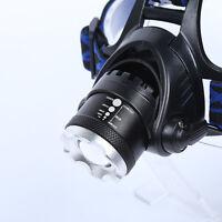 5000LM CREE XM-L T6 LED Scheinwerfer Taschenlampe Kopf Fahrrad Lampe Stirnlampe