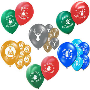 """Merry Christmas Printed Children's Party Printed 11"""" Latex Balloons Decorations"""