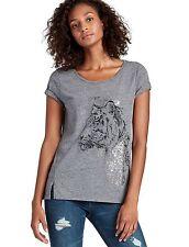 Lucky Brand - Womens XS - NWT - Heather Gray Tiger Eye Cotton Blend Tee T-Shirt