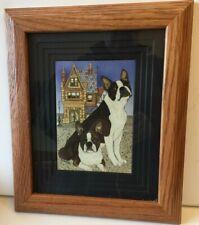 Boston Terrier Beautifully Framed Art Work