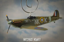 RAF Supermarine Spitfire WWII Single Prop Christmas Ornament Airplane Aircraft