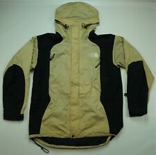 Rare VTG THE NORTH FACE Gore Tex Spell Out Mountain Jacket 90s TNF Black Gold L