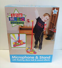 Boys Microphone & Stand Toy - With Flashing Disco Ball & Sond Effects