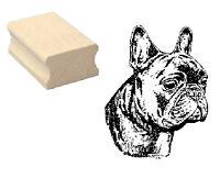 Motivstempel Hund « FRANZÖSISCHE BULLDOGGE » Motiv Stempel Basteln Scrapbooking