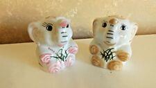 Vintage Porcelain China Elephants Set of 2  Figurines CL10-6