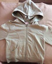 Girls Khaki Sweat Top/jacket/hoodie,With Hood Age 5/6 Years