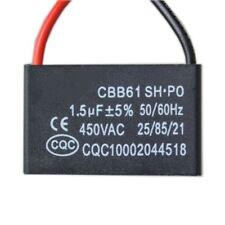 Ventola 1.5UF 450VAC Condensatore CBB61 (Volt AC) 50/60HZ 25/85/21 avviamento .