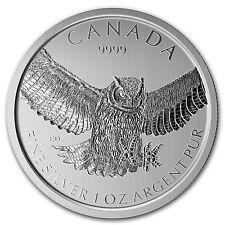 2015 RCM 1 oz Silver Birds of Prey Series Great Horned Owl - SKU #92035