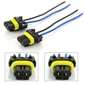 Wire Pigtail Female P 9005 HB3 Two Harness Head Light High Beam Connector Plug