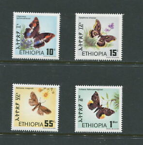 D893   Ethiopia  1983   butterflies      4v.   MNH