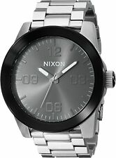 Nixon Men's Corporal A3461762-00 48mm Black Dial Stainless Steel Watch