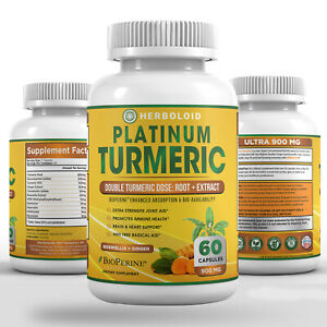 Platinum Turmeric Root Supplement, Anti-Inflammatory, Joint Aid Supplement