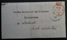 1849 South Australia Paid The Customs Collector London - Adelaide Request form