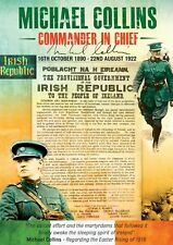 Exclusive A3 Commemorative Michael Collins Poster - Commander In Chief